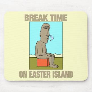 Temps de coupure sur l'île de Pâques Tapis De Souris