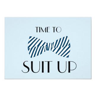 Temps de cravate d'arc d'adapter vers le haut de carton d'invitation  12,7 cm x 17,78 cm