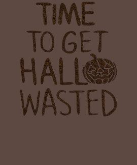 Temps de Halloween d'obtenir Hall gaspillé T-shirts