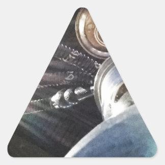 Temps de narguilé autocollants en triangle