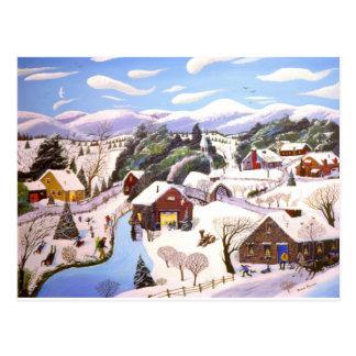 Temps de Noël Carte Postale