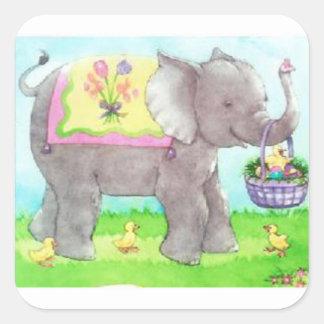 Temps de Pâques ! Sticker Carré
