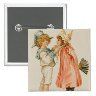 Temps de partie, carte postale de Noël Badge