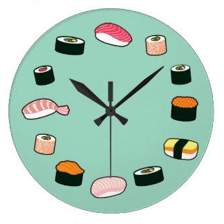 Temps de sushi ! Horloge murale (en bon état) géni