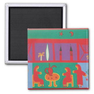Temps de thé au musée 2003 magnet carré