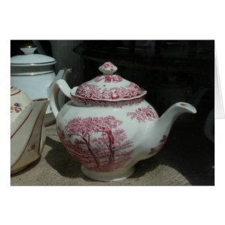 Temps de thé carte de vœux