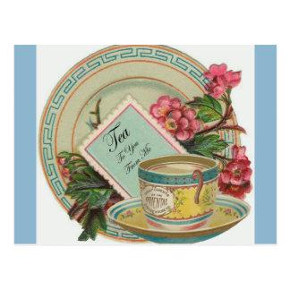 Temps de thé carte postale