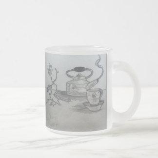 Temps de thé tasse givré
