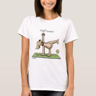 Temps de yoga de demi-lune t-shirt