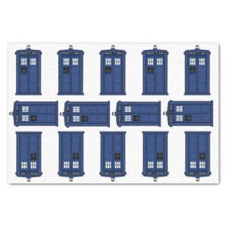 Temps et espace, geek bleu vintage de cadeau de papier mousseline 25,4 x 38,1 cm