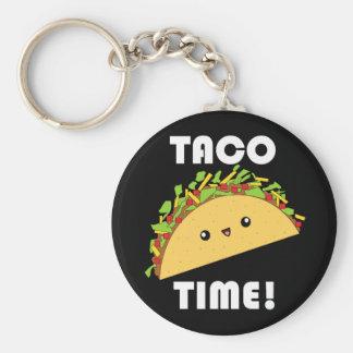 Temps mignon de taco de kawaii ! porte - clé porte-clés