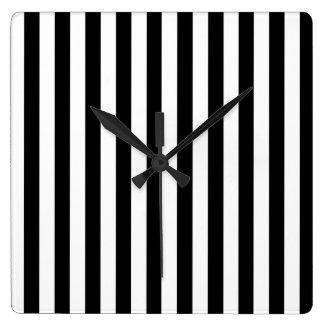 Temps vertical horloge carrée