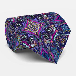 Tendance bleue de natif américain de kaléidoscope cravates
