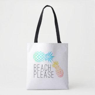 """tendant l'été """"plage svp"""", ananas coloré sac"""