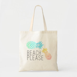 """tendant l'été """"plage svp"""", ananas coloré sac fourre-tout"""