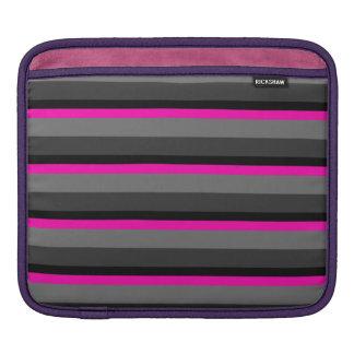 tendant noir rose au néon lumineux et le gris poches iPad