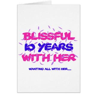 Tendre des 10èmes conceptions d'anniversaire de carte de vœux
