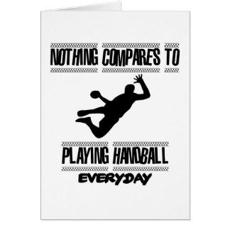 Tendre des conceptions fraîches de handball carte de vœux