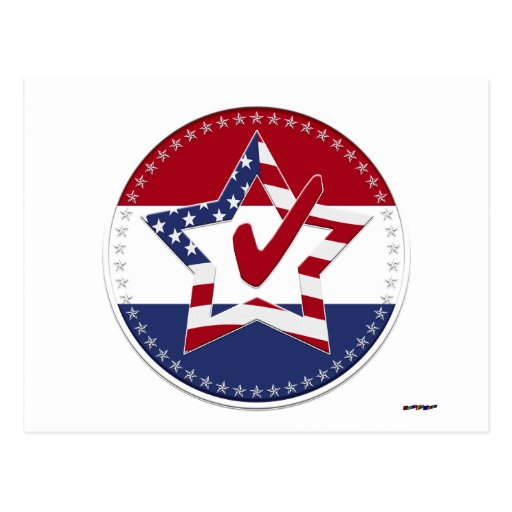 Tenez le premier rôle avec le drapeau des USA, le  Carte Postale