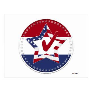 Tenez le premier rôle avec le drapeau des USA, le Cartes Postales
