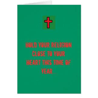 Tenez votre religion près de votre coeur… cartes de vœux