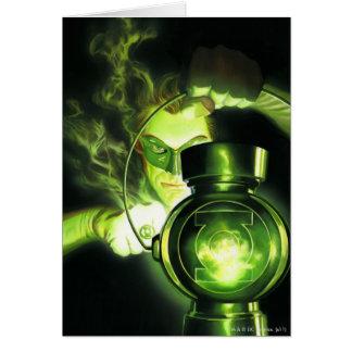Tenir la lanterne verte carte de vœux