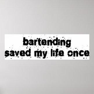 Tenir le bar a sauvé ma vie par le passé poster