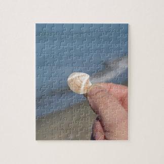 Tenir un coquillage dans la main puzzles