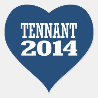 TENNANT 2014 AUTOCOLLANTS EN CŒUR