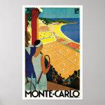 Tennis à Monte Carlo Posters