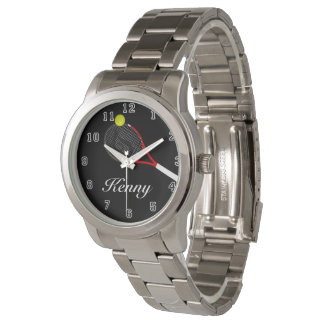 Tennis argenté surdimensionné unisexe de bracelet montres bracelet