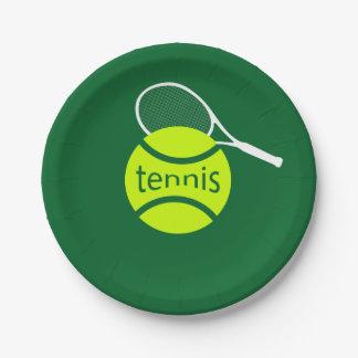 Tennis Assiettes En Papier