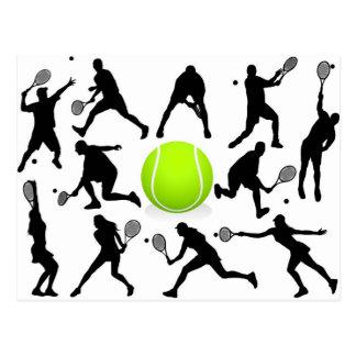 tennis carte postale