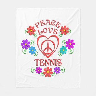 Tennis d'amour de paix couverture polaire