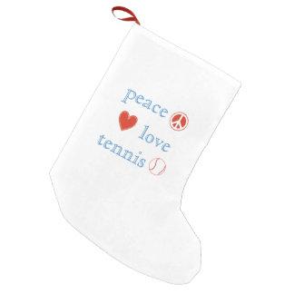 Tennis d'amour de paix petite chaussette de noël