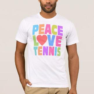 Tennis d'amour de paix t-shirt