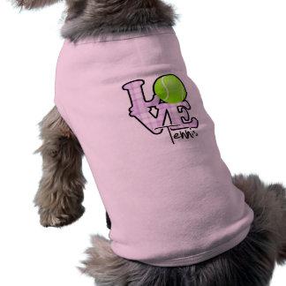 Tennis d'amour t-shirt pour chien