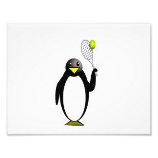 Tennis de pingouin impression photo