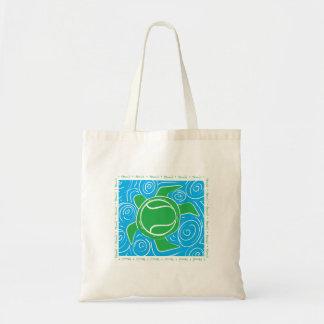 Tennis de plage de tortue sac de toile