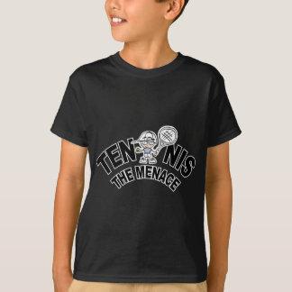 Tennis le T-shirt et les cadeaux de menace