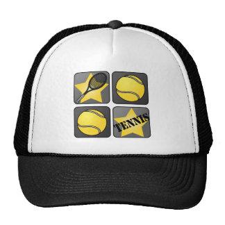 Tennis noir casquette trucker