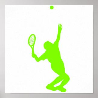 Tennis vert Chartreuse et au néon Posters