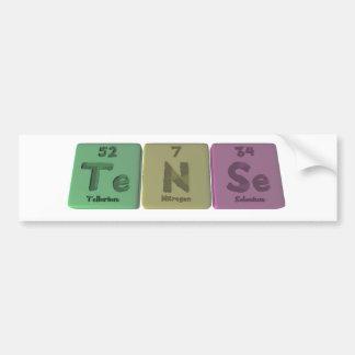 Tense-Te-N-Se-Tellurium-Nitrogen-Selenium.png Autocollant Pour Voiture