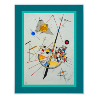 Tension sensible par Wassily Kandinsky Posters