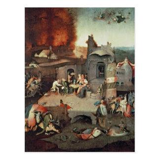 Tentation de saint Anthony, c.1500 Carte Postale