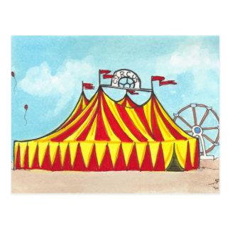 Tente de cirque de chapiteau + carte postale d'art