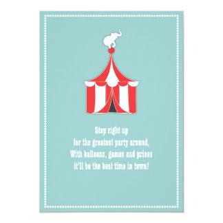 Tente de cirque et partie d'anniversaire de enfant carton d'invitation  12,7 cm x 17,78 cm