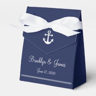 Tente nautique de ballotins de mariage de bleu boites faveurs de mariage