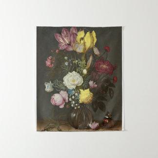 Tenture Bouquet des fleurs dans un vase en verre