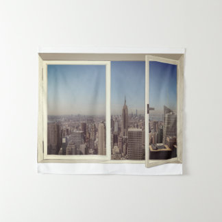 Tenture de New York City de paysage urbain
